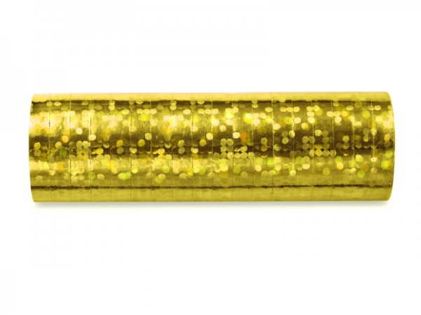 Paris Dekorace Serpentýny holografické zlaté