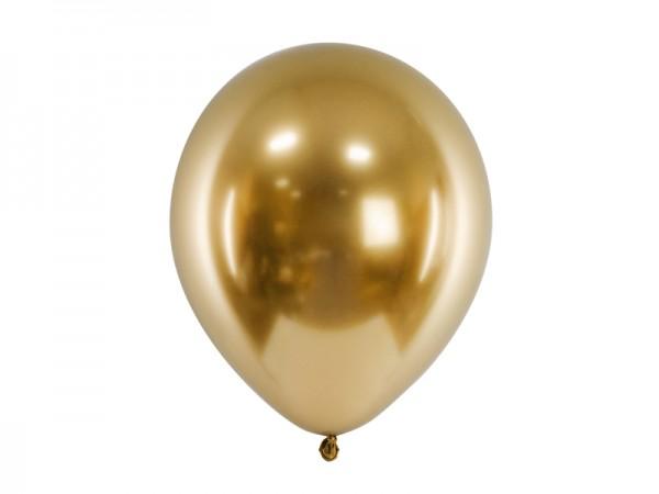 Paris Dekorace Balónek chromový zlatý, 30 cm