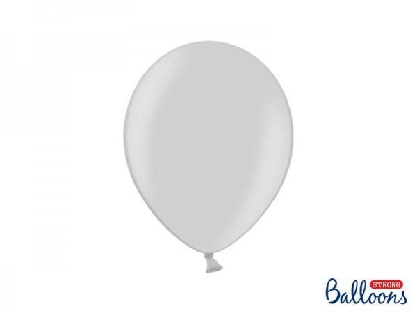 Paris Dekorace Balónek metalický stříbrný, 27 cm