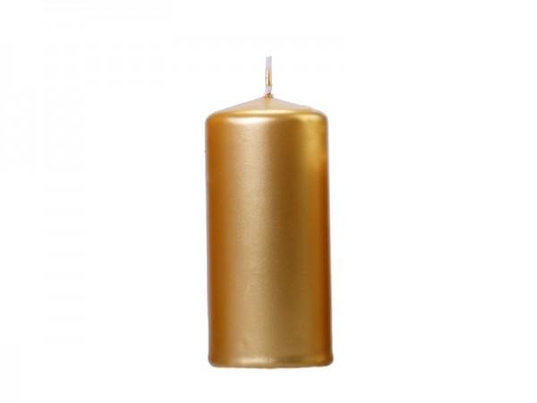 Paris Dekorace Svíčka válec zlatá 12x6cm