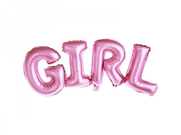 "Paris Dekorace Foliový balónek ""GIRL"" růžový"
