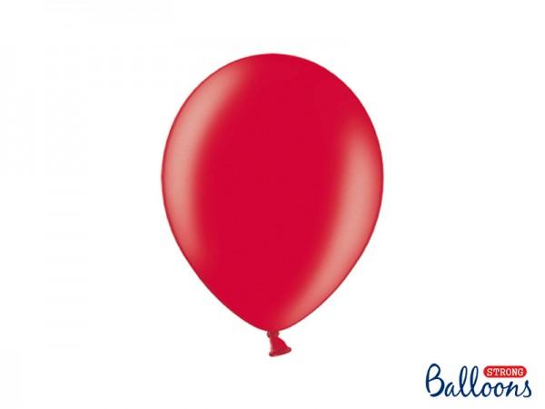 Paris Dekorace Balónek metalický červený, 27 cm