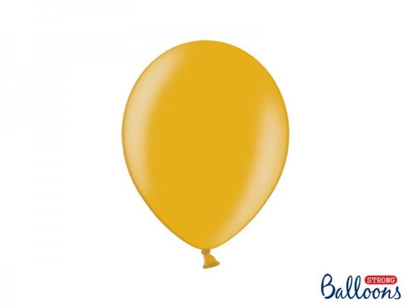 Paris Dekorace Balónek metalický zlatý, 27 cm