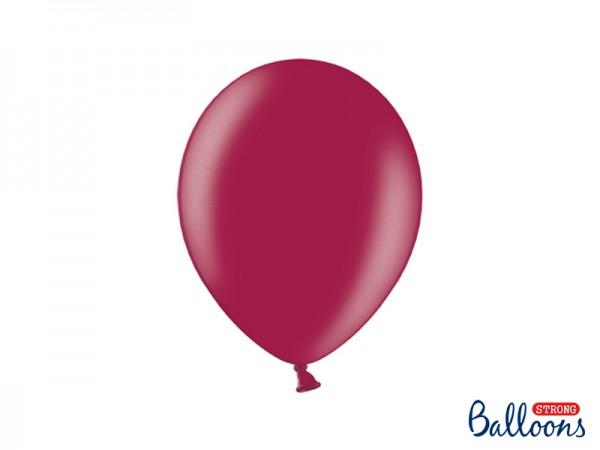 Paris Dekorace Balónek metalický burgundy, 27 cm