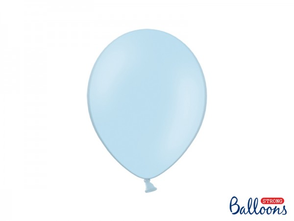 Paris Dekorace Balónky pastelové Baby blue, 27 cm