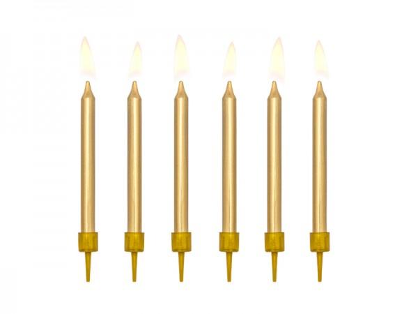 Paris Dekorace Narozeninové svíčky zlaté 6 cm, 6 ks
