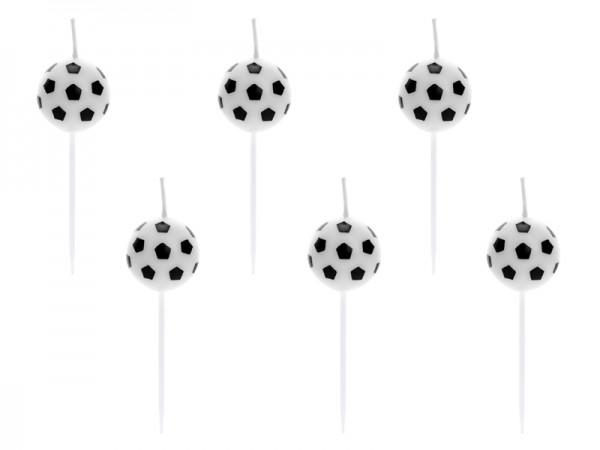 Svíčky Fotbalové míče 6 ks