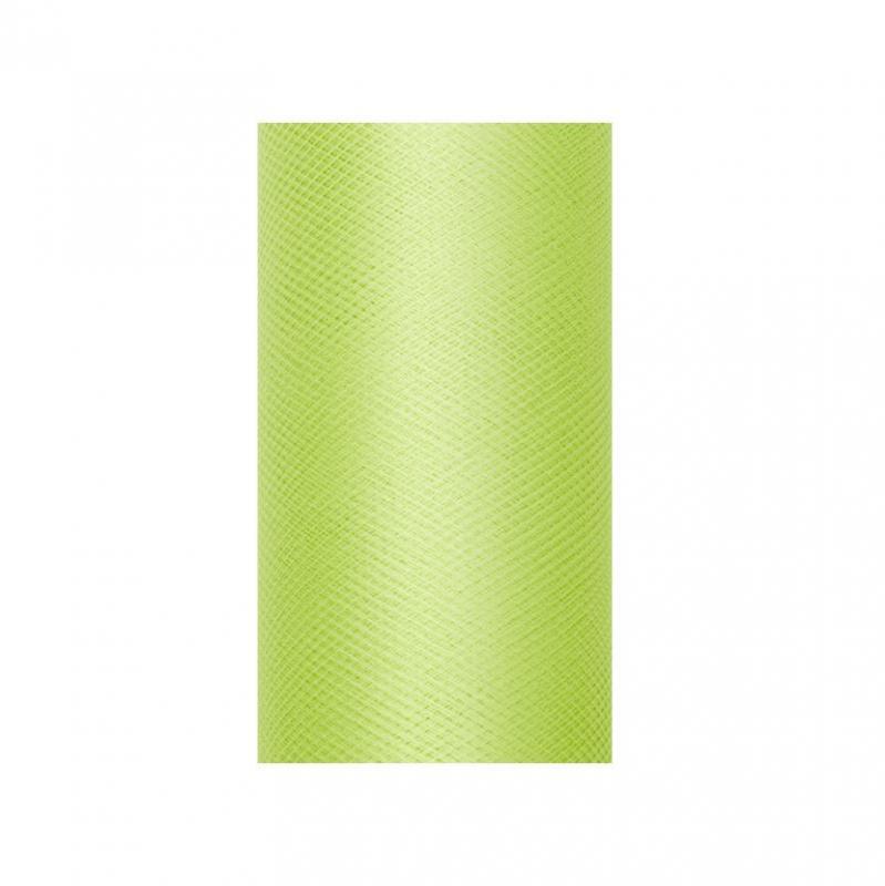 Paris Dekorace Tyl v roli, světle zelený 50cm/9m