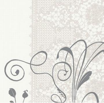 Paris Dekorace Ubrousek Dunilin LEA WHITE, 12 ks