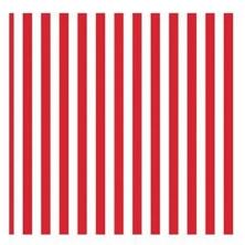 Paris Dekorace UBROUSEK 3vrstvy,33cm,bílo/červené prouhy, 20 ks