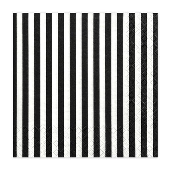 Paris Dekorace UBROUSEK 3vrstvy,33cm,bílo/černé prouhy, 20 ks