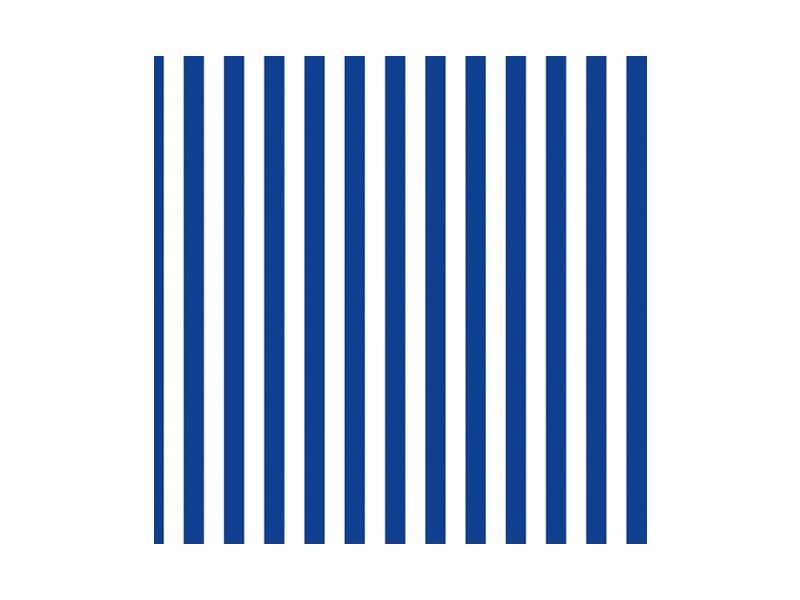 Paris Dekorace UBROUSEK 3vrstvy,33cm,bílo/modré prouhy, 20 ks