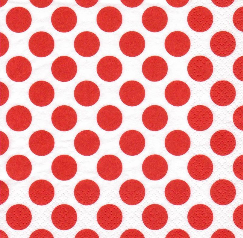Paris Dekorace UBROUSEK 3vrstvy,33cm,červený puntík, 20ks