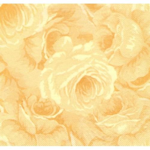 Paris Dekorace Ubrousek růže  ŽLUTÁ, 50 ks