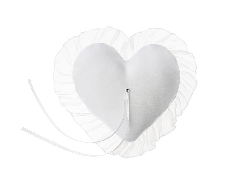 Paris Dekorace Polštářek na snubní prstýnky ve tvaru srdce
