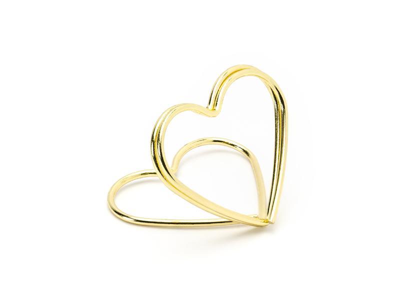Paris Dekorace Stojánek na jmenovky srdce, zlaté