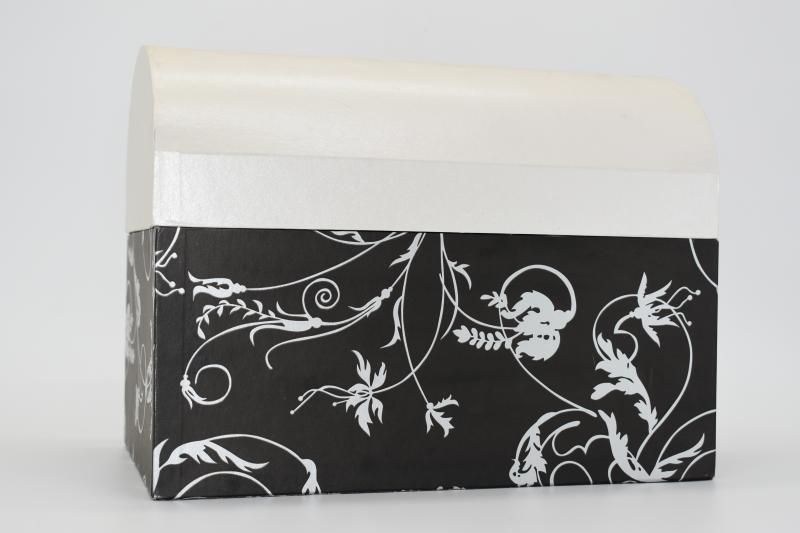 Paris Dekorace Pokladnička 30x20x23 cm - černobílá