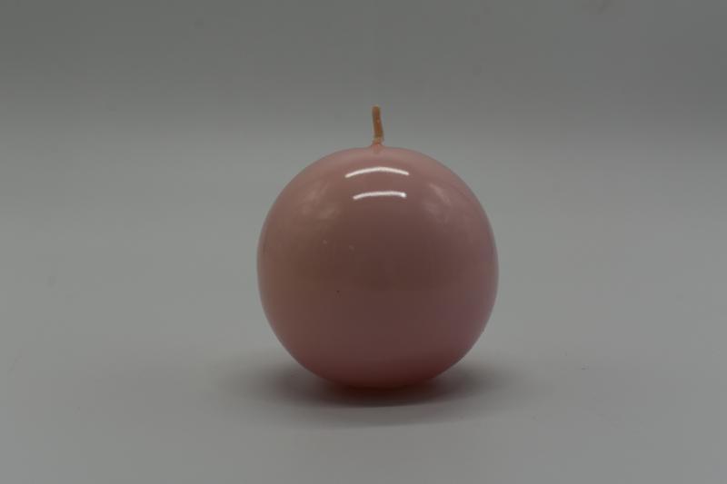 Paris Dekorace Svíčka koule 80mm, lakovaná,  růžová