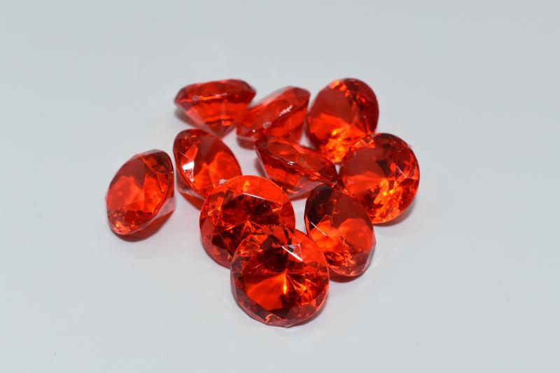 Paris Dekorace Briliantové kamínky červené, 10 ks