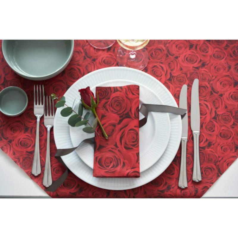 Paris Dekorace Papírové prostírání red rose, 84x84cm