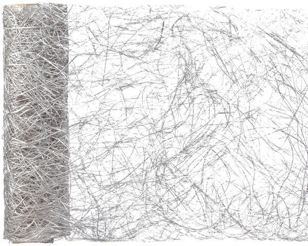 Paris Dekorace Stolová šerpa z kokos. vláken, stříbrná 30 cm x 5 m