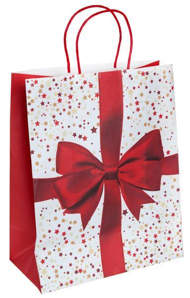 Paris Dekorace Vánoční dárková taška 26 x 13 x 31,5 cm
