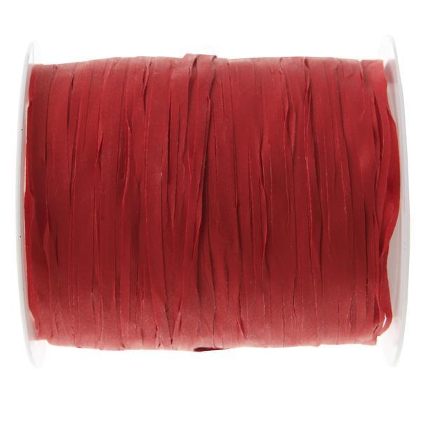 Paris Dekorace Stuha Raffia červená, 5 mm x 25 m