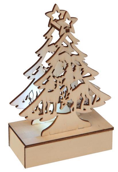 Paris Dekorace Vánoční svítící stromeček, 8,5 x 4,5 x 13,5 cm