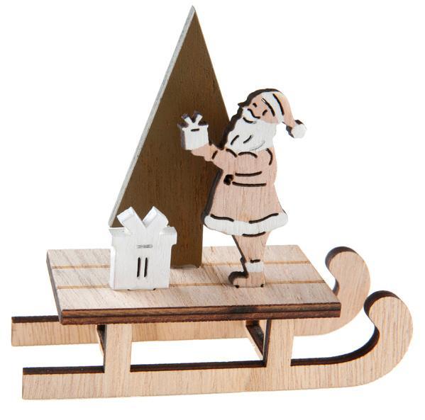 Paris Dekorace  Santa na saních, stojánek na ubrousky 12 x 4 x 12 cm