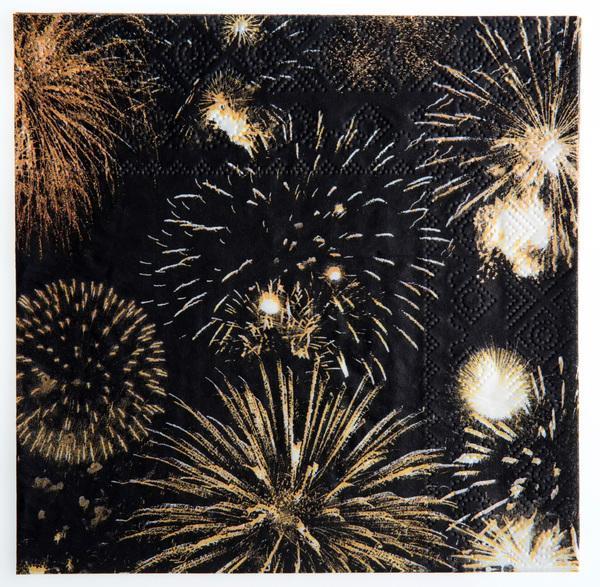 Paris Dekorace Ubrousky Happy New Year, 20 ks