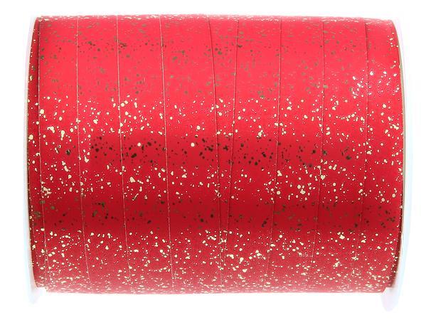 Paris Dekorace Metalická červená stuha 10 mm x 25 m