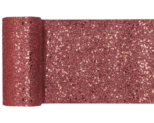 Paris Dekorace Stolová šerpa gliterová fialová, 13 cm x 5 m