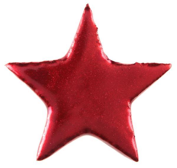 Paris Dekorace Dekorační metalické červené hvězdy 6ks, 5 x 5 cm