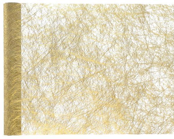 Paris Dekorace Stolová metalická šerpa, zlatá 30 cm x 5 m