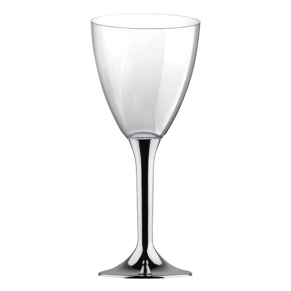 Paris Dekorace Stříbrné plastové skleničky 6 ks