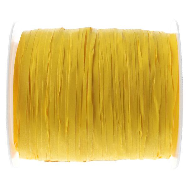 Paris Dekorace Stuha Raffia žlutá, 5 mm x 25 m