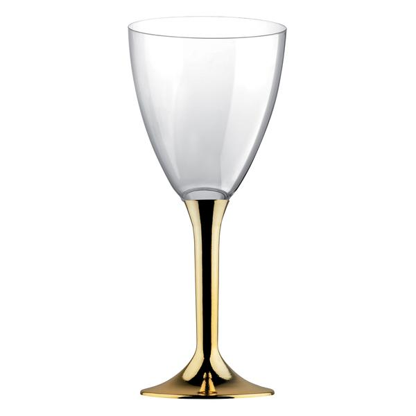 Paris Dekorace Zlaté plastové skleničky 6 ks