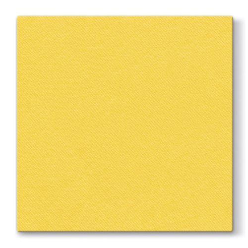 Paris Dekorace Ubrousek Airlaid žlutý - jednobarevný 50 ks