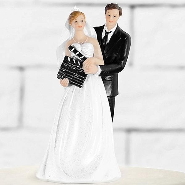 Paris Dekorace Figurka novomanželé klapka