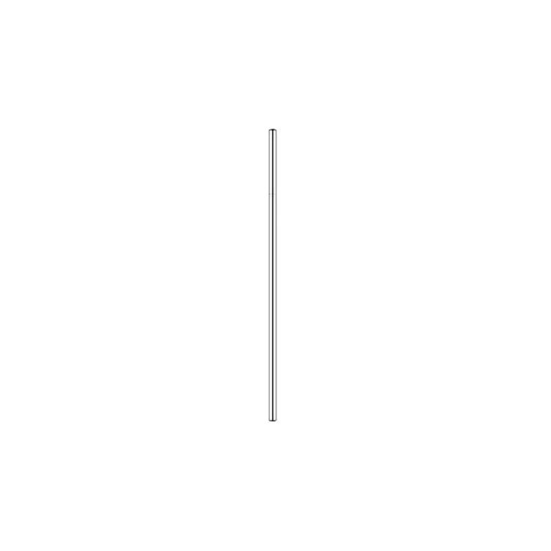Paris Dekorace Nerezové brčko 21,5 cm x 0,6 cm - rovné, stříbrné