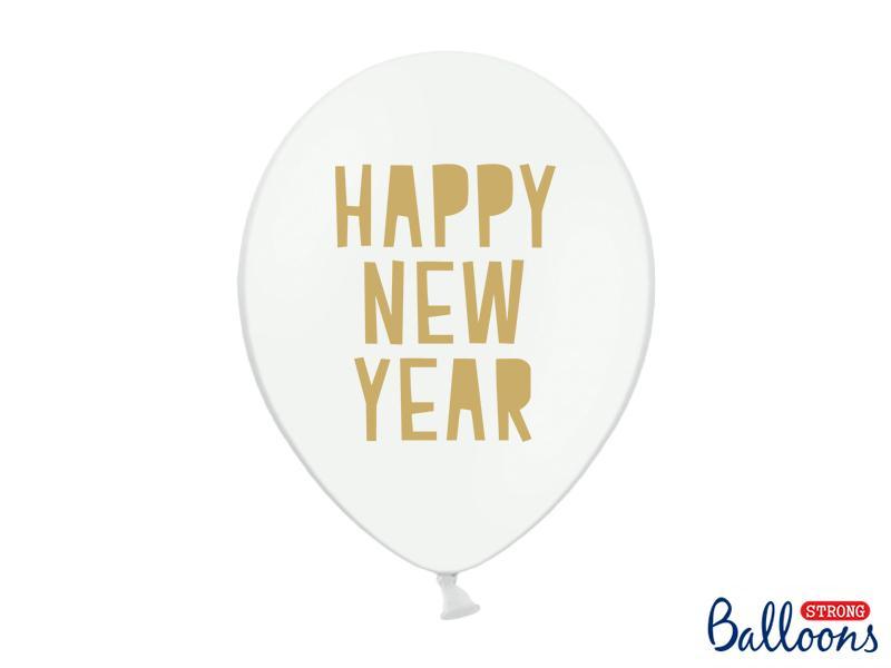 Paris Dekorace Balónky Happy New Year, bílé 30 cm