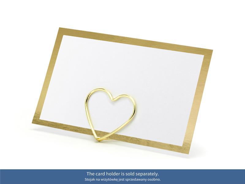 Paris Dekorace Jmenovky na stůl - Zlatý rámeček 10 ks