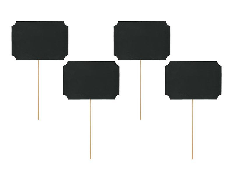 Paris Dekorace Rekvizity na focení - černé cedulky 4 ks