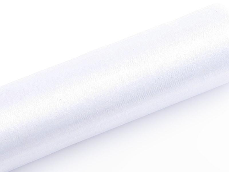 Paris Dekorace Organza hladká bílá, šířka 36 cm, návin 9 m