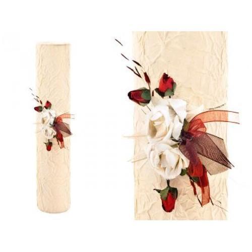 Paris Dekorace Ozdobná tuba ivory/bordó
