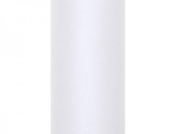 Paris Dekorace Tyl v roli, bílý, 15cm/9m