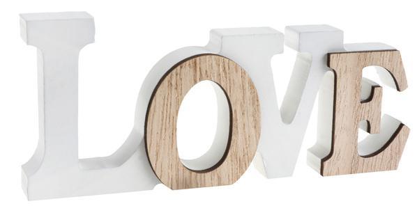 Paris Dekorace Dřevěný nápis LOVE
