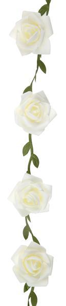 Paris Dekorace Girlanda s růžemi bílá 120 cm