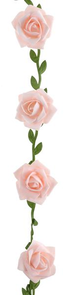 Paris Dekorace Girlanda s růžemi růžové 120 cm