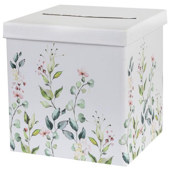 Paris Dekorace Svatební krabice - květiny